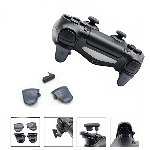 GAMINGER PS4 L2 R2 Tasten Shooter Tuning Trigger Buttons mit Einstellschraube für verbesserte Reaktion & Schnelligkeit