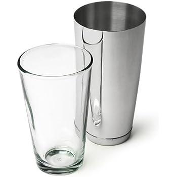 Professional Boston Cocktail Shaker | Shaker Tin by bar@drinkstuff, 16oz Mixing Glass by ...