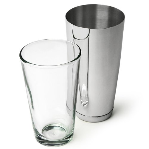 bar@drinkstuff Professional Boston Cocktail Shaker | Shaker Tin by, 16oz Mixing Glass by Pasabahce | Weighted Boston Cocktail Shaker | 28oz Boston Cocktail Shaker