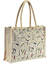Jute Bags for Lunch & Return Gifts | for Men Women Office Tiffin Box Bags | (14x5x12 inch) - 1 Pack