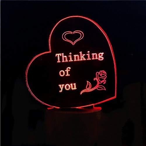 Mmzki 3D-Farbdisplay Für Led-Lampen Led-7-Farben-Farbdrucker Für Ihr Unternehmen Noch Mehr Details Sie Sind Hier Um Ihre Registrierung Für San Valentín Abzuschließen