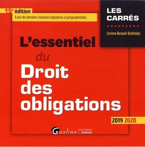 L'essentiel du droit des obligations par Corinne Renault-Brahinsky