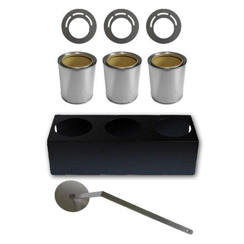 Zubehör Set: Brennstoff Dosen 0,5 L + Sparplatten + Ständer + Flammenlöscher