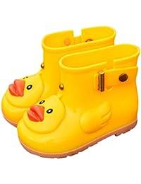 688b227c0c00 Saihui Infant Toddler Wellies Children Rain Boots UFO Duck Waterproof  Rubber Rain Shoes Warm Liner Sock