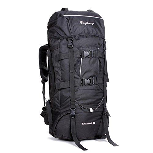 Groß Kapazität Bergsteigen Tasche Im Freien Reise Rucksack Wasserdicht Rucksack Black