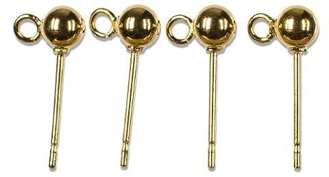 Cousin 14K plaqué or perles Elegance et findings-posts W/Boules de 4mm