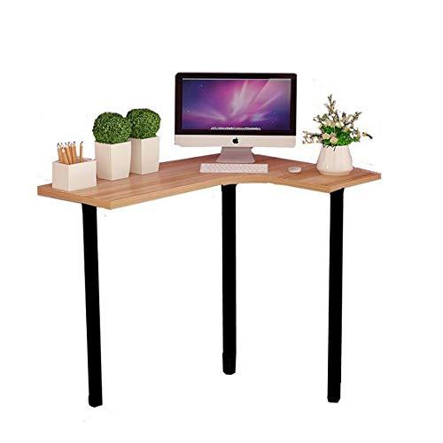 Laptopständer DD Holzfarbe Beistelltisch Für Wohnzimmer, Kleiner Couchtisch, Kidney Bean Form W / 3 Beine, Retro-Design, Vintage -Werkbank (Farbe : Log+Black)