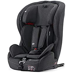 Kinderkraft SAFETY-FIX Siège Auto, Isofix, Groupe 1/2/3, De 9 à 36 kg, Noir