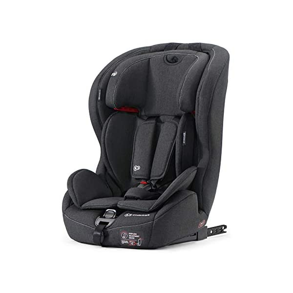 Kinderkraft Safety Fix Baby Car Seat ISOFIX, for Children Weighing 9-36kg - Black kk KinderKraft Car Seat - The Safety-Fix car seat grows together with your child. Secure - Equipped with fixing system ISOFIX + TOP TETHER, which guarantees a stable and safe position for your child. Comfort - Hight adjustable 5-point internal harness and 10-step adjustment headrest means the seat will serve your child for years. 1