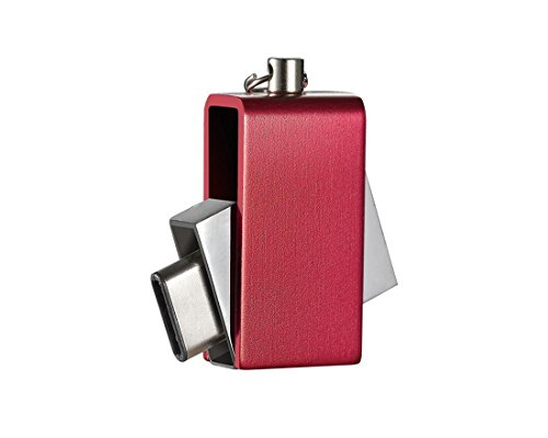 USB-Flash-Laufwerk Typ-C und USB-Schnittstelle Memory Stick Speicher Expander Gerät 16G / 32G / 64G U Festplatte für PC / Handy , red , (Halskette Billig Kitty Hello)