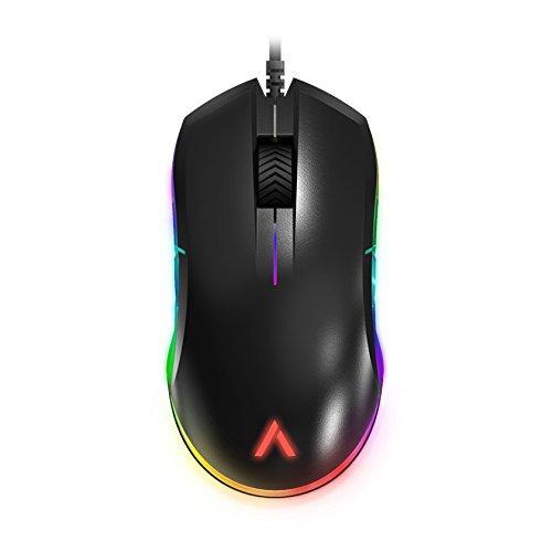 Azio Atom–RGB beidhändig tragbar leicht FPS Gaming optische Maus, pmw3360Sensor, schwarz (gm-atom-01) (Azio Maus)