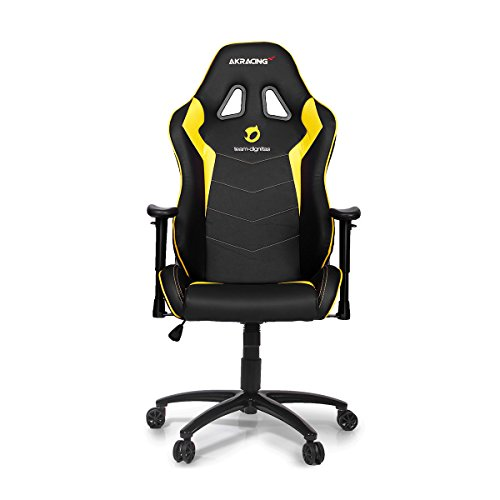 """AK Racing """"Team Dignitas"""" Edition Max Gaming Chair, Faux Leather, Black/Yellow on Line"""