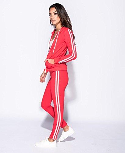Momo&Ayat Fashions -  Tuta da ginnastica  - Donna Red/White