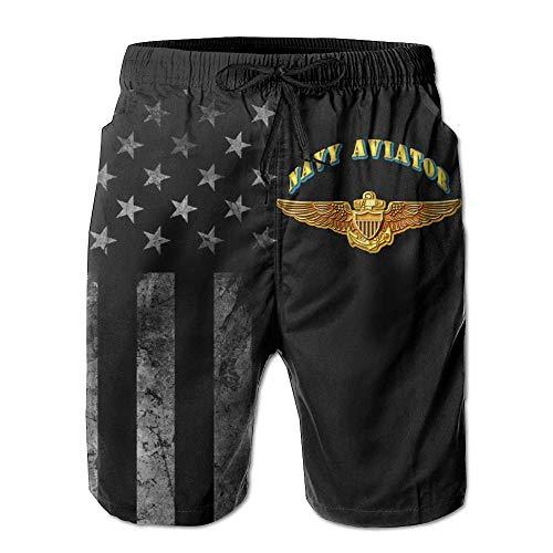 Pillow Socks US Navy Aviator with American Flag Men's Beach Shorts Swim Trunks - Swimsuit Athletic Shorts XL Capezio Capris