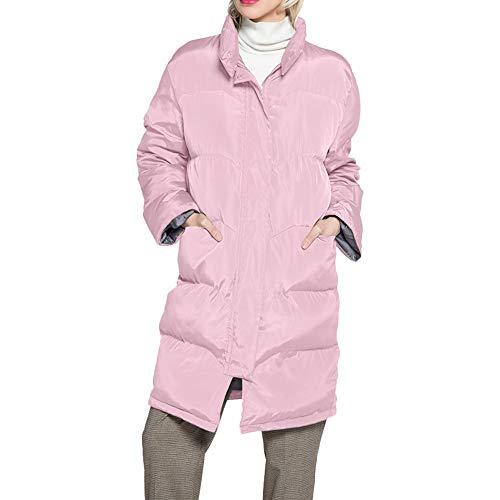 Luckycat Warme Lange Mantelkragen Kapuzenjacke Damen Winter Parka Outwear Mäntel Jacken Mäntel Sweatjacke Winterjacke Fleecejacke Steppjacke