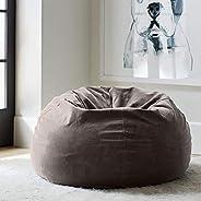 Regal In House relaxing bean bag velvet Large - Dark Grey