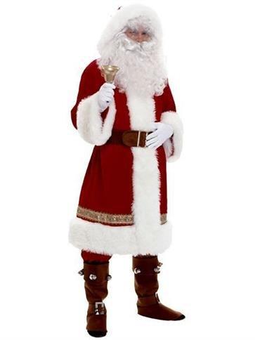 Super Deluxe Old Time Santa - Erwachsene Kostüm