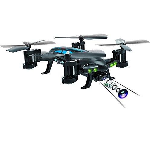 Bescitac Funsky K20 2.4G 4-Kanal RC Quadcopter/Fliegende Auto-Drohne Hubschrauber Spielzeug für Kinder, blau