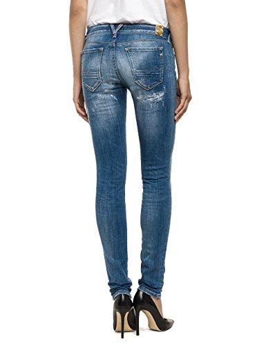 Replay Damen Jeanshose Rose Blau (Blue Denim 9)