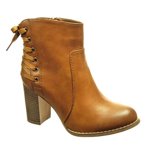 angkorly-chaussure-mode-bottine-low-boots-femme-lacets-talon-haut-bloc-8-cm-interieur-fourree-camel-
