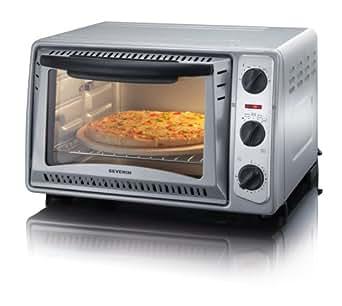 Severin TO 9488 Mini four Chaleur tournante Pierre à pizza Puissance 1500 W / Capacité 20 l (Import Allemagne)