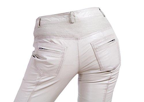 Yonna Damen Lederhose aus echtem Lamm Nappa Leder in diversen Farben Weiß