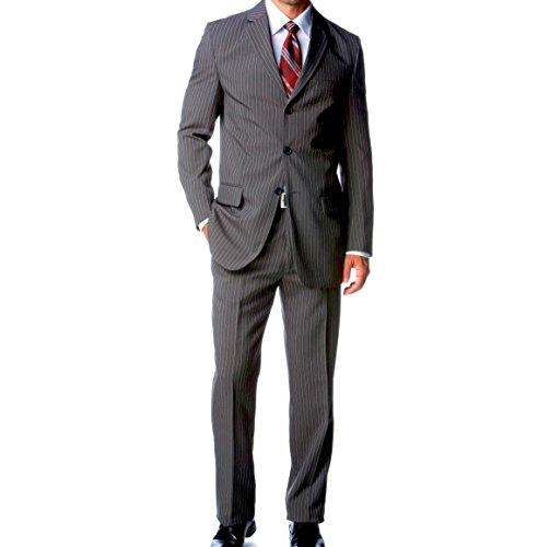 Keskin Collection Anzug Grau gestreift gr 44 bis 106 Neu + Gratis Hemd für Kurze Zeit Grau