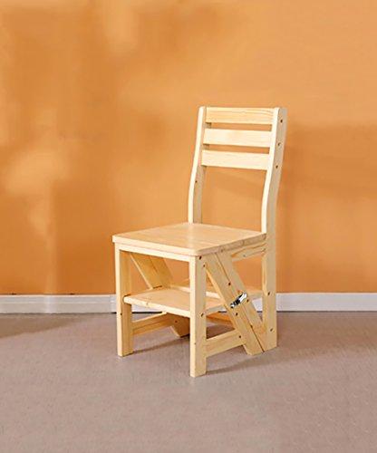 ZEMIN Klappleiter Hölzerne Stühle Hölzerne Klappleiter Stühle Utility Back Stuhl Multifunktions Vier-Stufen, 420 * 465 * 900mm, 2 Farben (Farbe : #3)