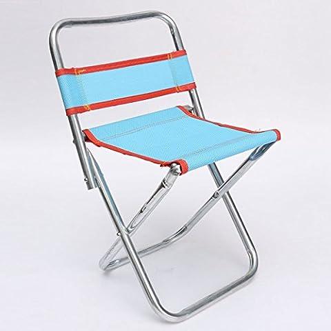 MaMaison007 Nueva moda estilo al aire libre plegable portátil Camping respaldo taburete de la silla