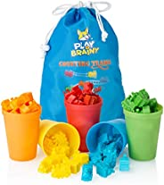 Play Brainy Colorful Counting Trains and Cups - Fun Educational Sorting Trains with Color Sorting Cups - Educa