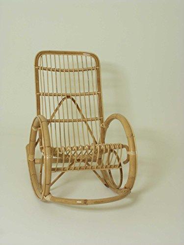 Chaise à bascule en rotin, Oceane. , Siège tressé tissé à la main et le dossier.