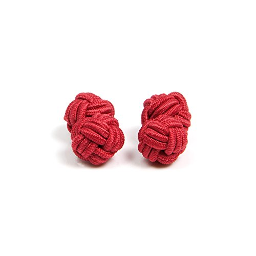 KNÖPFBAR 1 Paar klassisch und Business Herren Seidenknoten, dehnbare Seide in Rot - für jeden Anlass