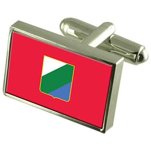 Regione abruzzo italia bandiera gemelli incisi box