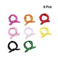 STOBOK 8 stks baby meisje hoofdband baby geknoopte elastische hoofddoek haarband voor baby peuters (gesorteerde kleur)