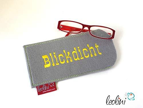 Brillenetui Brillenhülle Brillentasche Etui für Brille Blickdicht - handmade by Leolini