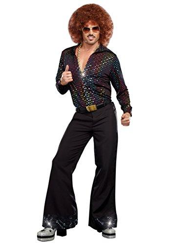 Adult Disco Dude Shirt Fancy Dress Costume Small