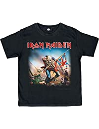 Unbekannt Iron Maiden The Trooper Infantil de Camiseta Negro