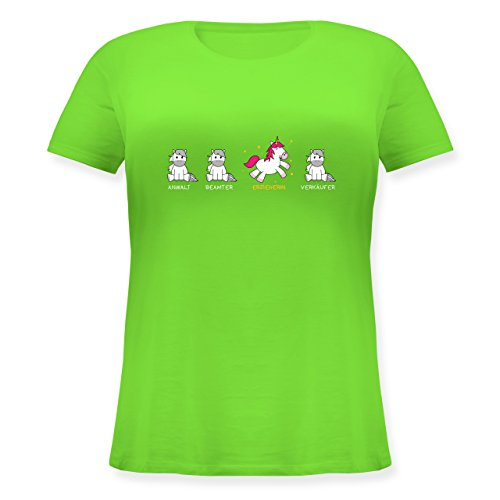 Shirtracer Sonstige Berufe - Erzieherin Einhorn - Lockeres Damen-Shirt in Großen  Größen mit Rundhalsausschnitt