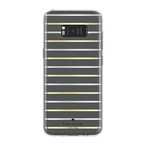 kate-spade-new-york-coque-dure-pour-le-samsung-galaxy-s8-plus-transparent-rayures-or-argent