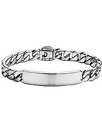 2cf92b9ec313 Pulsera de Plata para Hombre o Mujer de la Joyería Accesorios y Esclava para  Hombre Pulsera de Amor Huecas para Mujer Bisuteria…