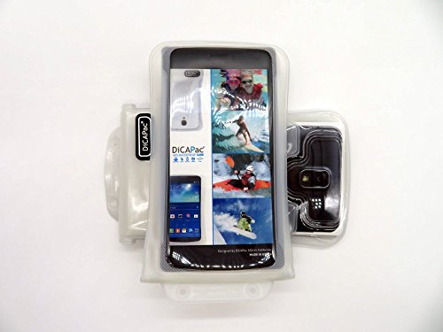 Cdma Note 3 Galaxy Samsung (DiCAPac WP-C2 Universelle wasserdichte Hülle für Samsung Galaxy Note 3 / 4 / 4 CDMA / 4 Duos / Edge Smartphones in Weiß (Doppel-Klettverschluss, IPX8-Zertifizierung zum Schutz vor Wasser bis 10 m Tiefe; integriertes Luftkissen treibt auf dem Wasser & schützt das Gerät; extraklare Polycarbonat-Fotolinse; inklusive Trageriemen))