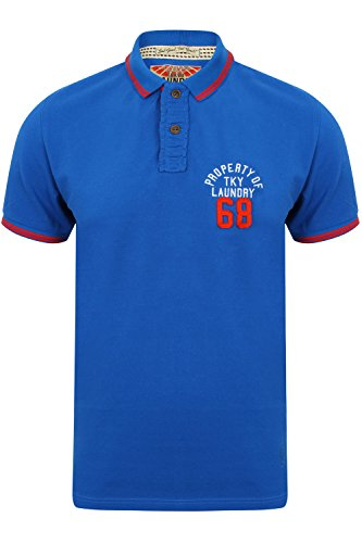 Tokyo Laundry Herren Blusen Poloshirt, Einfarbig blau blau Small 1X9299_ EskoSprings_Ocean Blue
