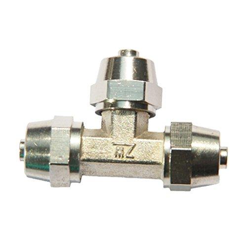 Sharplace Branchement en laiton à BSP Filetage F Raccord Raccord de ligne de tuyau d'air - #4 12mm
