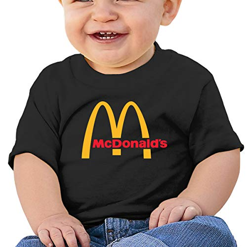 Jungen Sommer T-Shirt McDonalds Logo T Shirt Shirts Für Kleinkind Mädchen Jungen Kurzhülse Schwarz 18 Mt ()