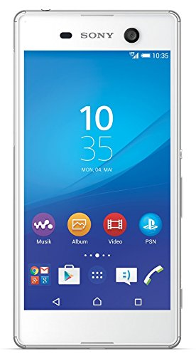 Sony Xperia M5 16GB 4G White - smartphones (Single SIM, Android, NanoSIM, EDGE, GPRS, GSM, HSDPA, HSPA, HSUPA, UMTS, LTE)