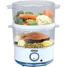 Jocca 5555 Sistema de cocción al Vapor, Color Blanco y Azul, 400 W,