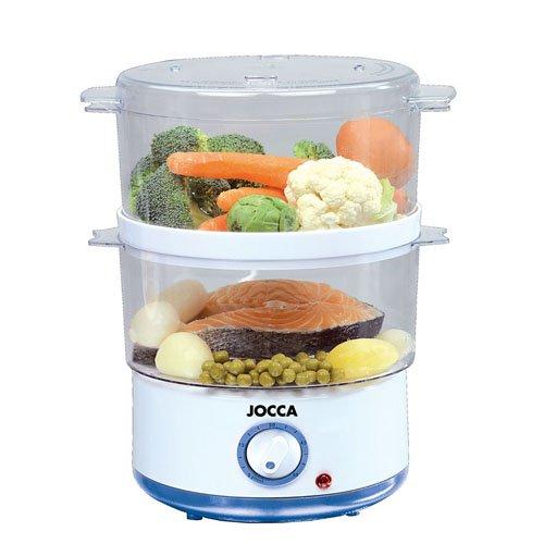 Jocca 5555 Sistema de cocción al vapor, color blanco y azul, 400...