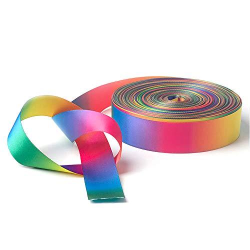 Cinta de raso de doble cara, cinta grosgrain verano color del arco iris para el Paquete Envoltura de regalo, artesanía, costura, decoración de la boda