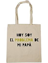 HippoWarehouse Hoy Soy el Problema de mi Papá Bolso de Playa Bolsa Compra Con Asas para gimnasio 42cm x 38cm 10 litros capacidad