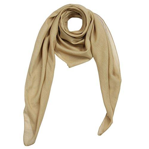 (Superfreak® Baumwolltuch - Tuch - Schal - 100x100 cm - 100% Baumwolle Farbe braun - beige)